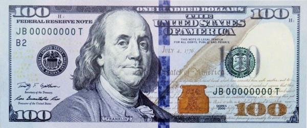 usd - 100 американских долларов образца 2009 года